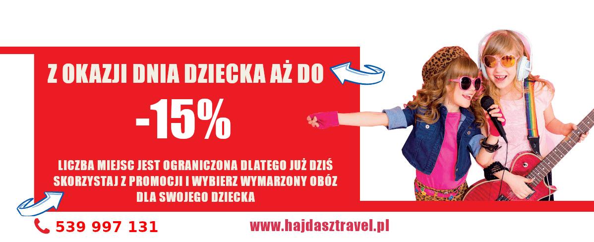 Promocja na dzień dziecka -15%
