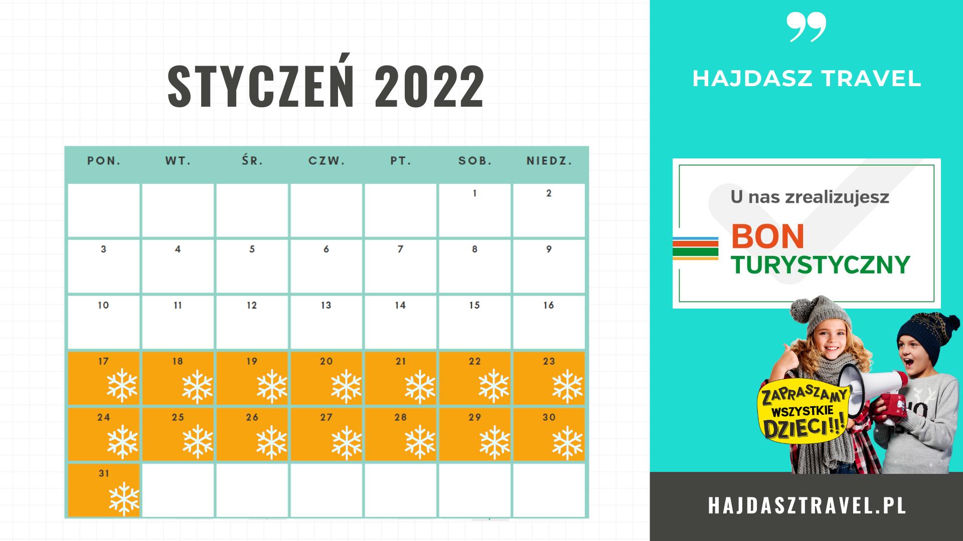 Terminy ferii zimowych ferie 2022